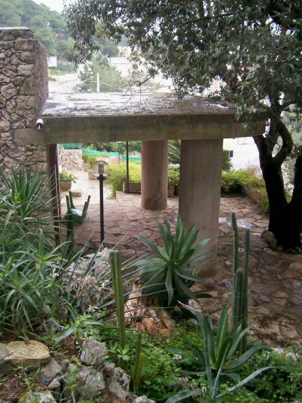 Villa con giardino vasca per pesci in pietra viva for Vasca giardino pesci